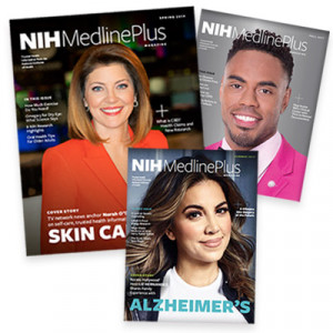 NIH MedlinePlus Magazine covers from past issues