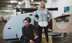 Lily Taylor and her boyfriend, Kevin, at her family's RV plant. Kevin supported Lily through her difficult cervical cancer treatment and recovery.