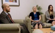 Researcher Eric Garland, Ph.D., LCSW, practices mindfulness with patients.
