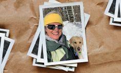 Leslie Heffernan, with her dog, Bella.