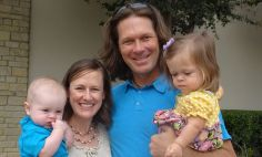 Brian LaFoy with his wife Jennifer, and his children, Micah and Bethany.