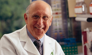Steven Rosenberg, M.D., Ph.D., in his lab at the National Cancer Institute.