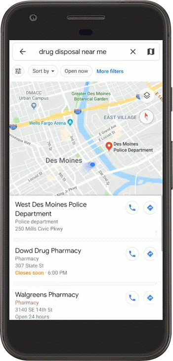 Drug disposal near you with google maps