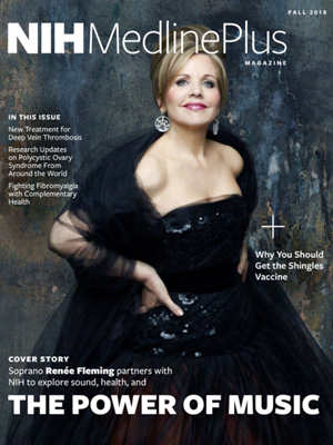 Renee Fleming on the Power of Music in the Fall issue of NIH MedlinePlus Magazine
