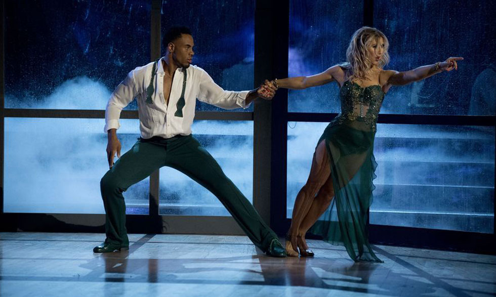 Rashad Jennings performs with partner Emma Slater.