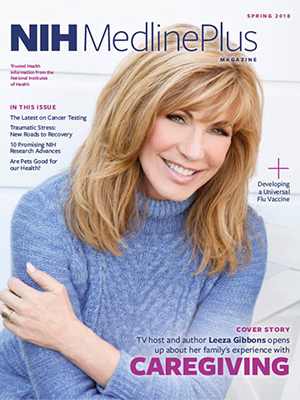 Leeza Gibbons on the Spring 2018 cover of NIH MedlinePlus Magazine