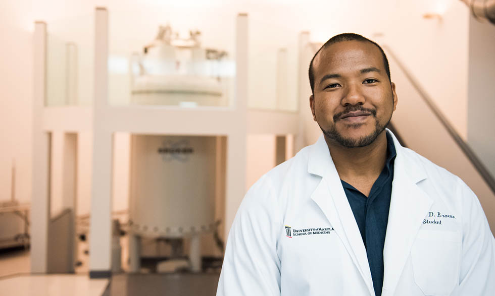 Joshua Brown, M.D./Ph.D. student at the University of Maryland.