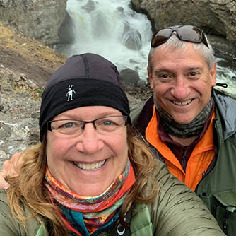 Janice and Ed Piscitella on a hike